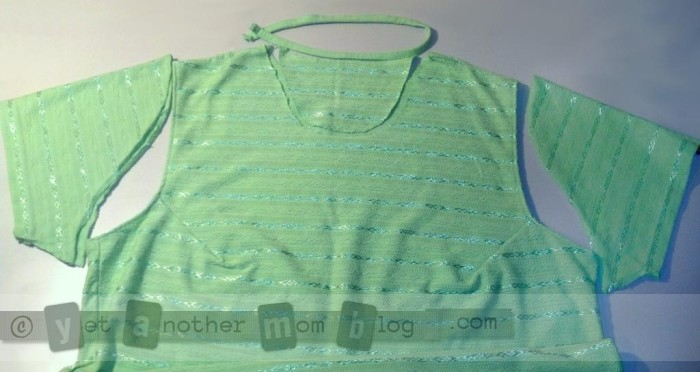T-shirt refashion disassembly