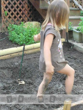 Kids love playing in the garden