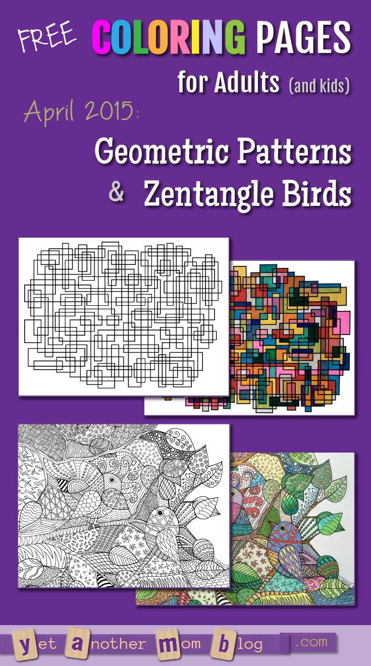 April Coloring Pages For Adults : Free coloring pages for april geometric patterns