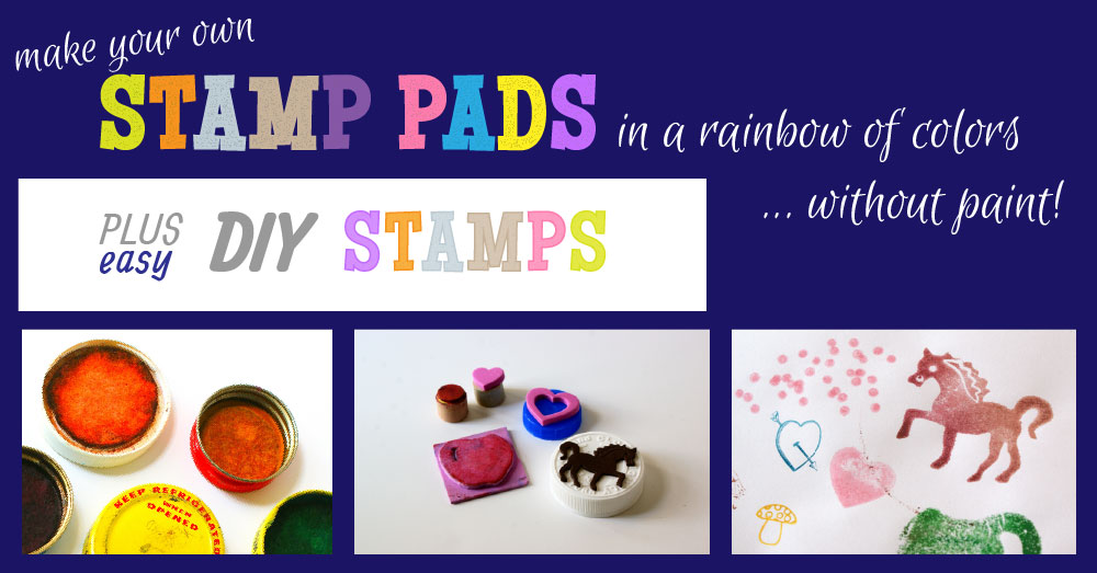 DIY Stamp Pads and Make Your Own Stamps