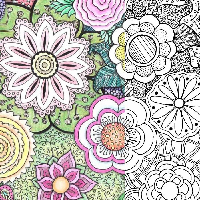 More Coloring Pages For Adults: Zentangle Flowers —Yet Another Mom Blog