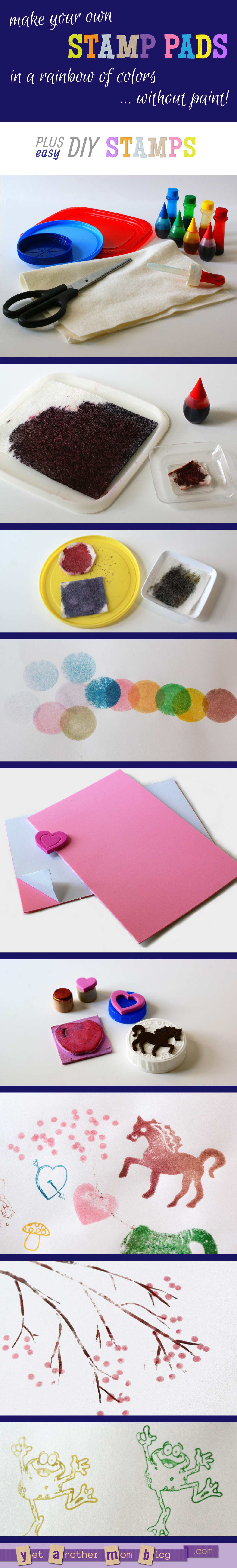 DIY Stamp Pads and Foam Stamps