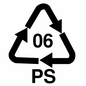 Plastic Recycle Symbol 06
