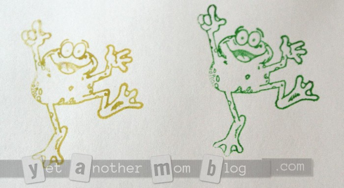 sample using dancing frog stamp
