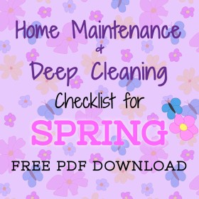 Home Maintenance and Spring Cleaning Checklist