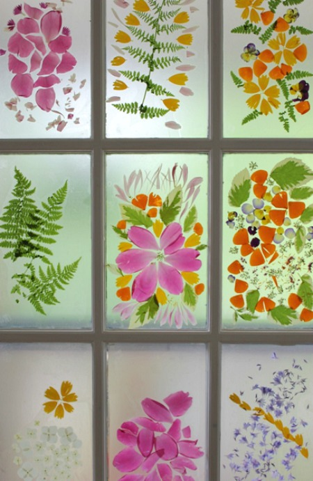 The-Artful-Parent-Flower-petal-stained-glass-door