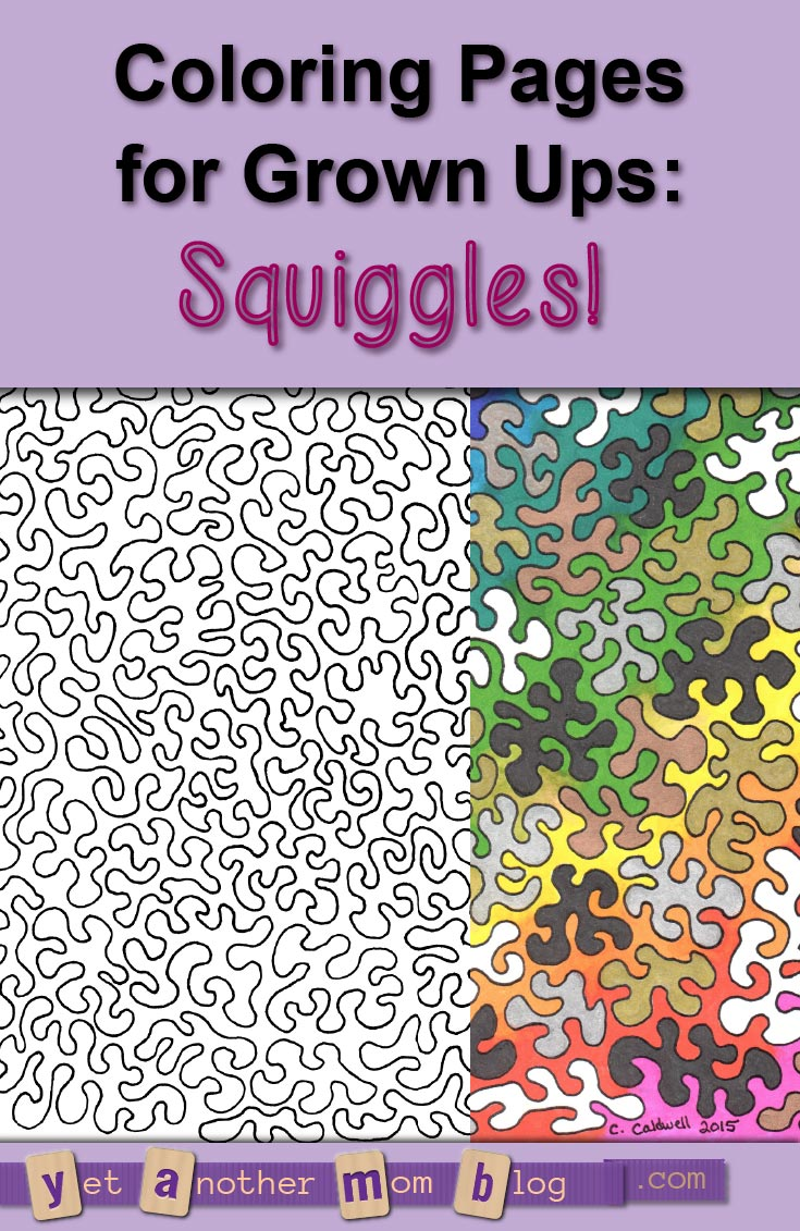 Abstract Coloring Page for Adults: Squiggles!