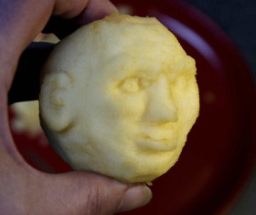Shrunken Apple Head Step 11