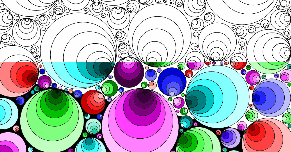 Coloring Pages for Adults: Geometric Circles