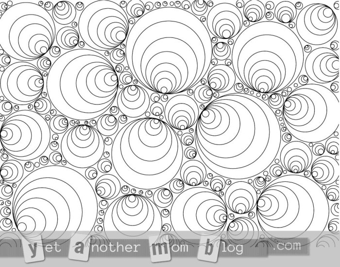 Coloring Page for Grown Ups: geometric circles