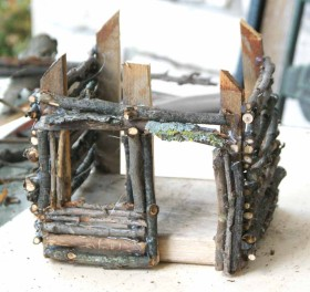 DIY Fairy House - walls