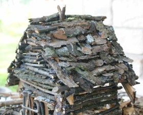 DIY Fairy House - roof shingles