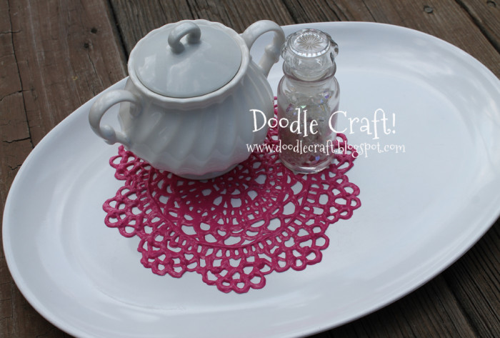 70+ Uses for Puffy Paint: puffy paint doily