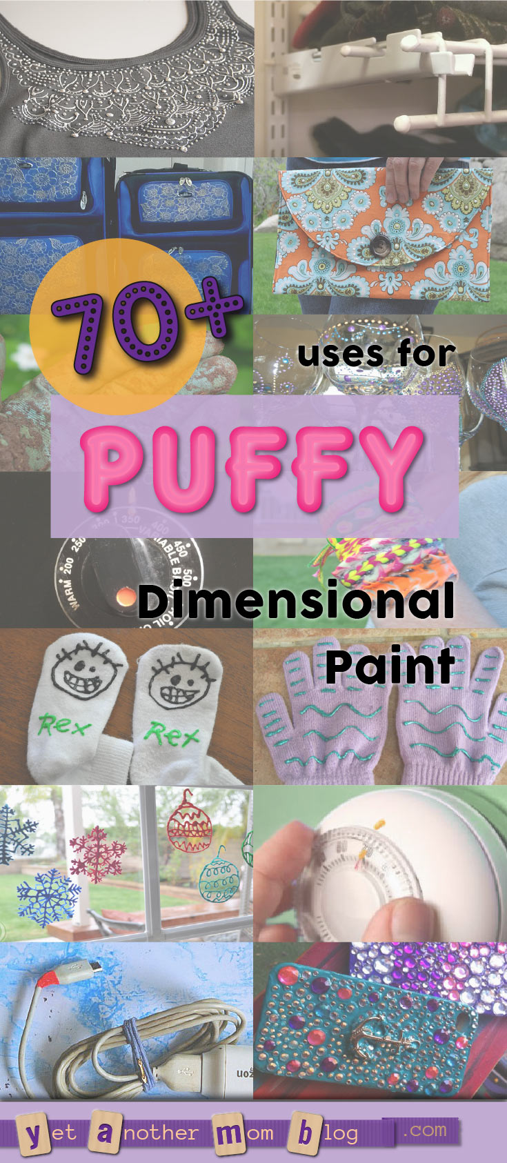 70+ uses for Puffy Paint (aka Dimensional Fabric Paint). It's not just for fabric!