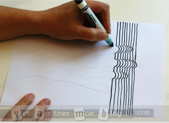 3D Line Art of Hand -more tracing