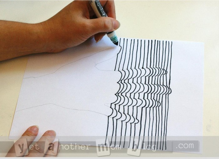 3D Line Art of Hand -and more tracing
