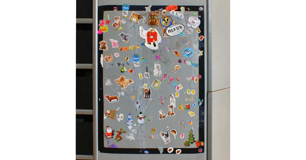 Create a Place for Kids to Stick Their Stickers... give them a special spot to put their stickers on display without damaging your walls and furniture!