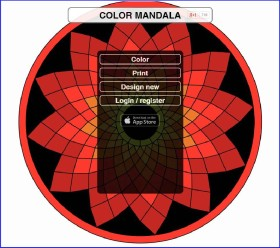 Color Manada - mandala coloring page creation app