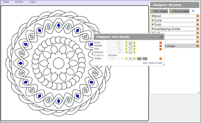 Color Mandala app tutorial for creating mandala coloring pages using this FREE online tool!
