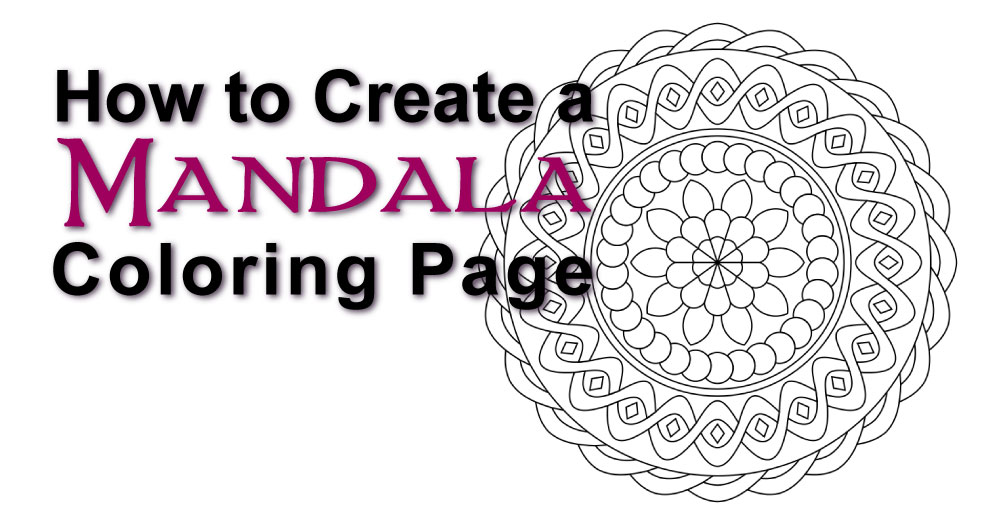 How to Create a Mandala Coloring Page - it is so easy with this FREE online app, a 6-yr-old can do it!