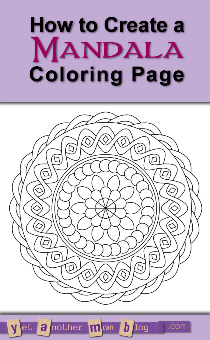 Don't think you are artistic enough to create a mandala coloring page? Think again! This FREE online tool for creating mandalas is so easy to use, a six-yr-old can do it! Follow my step-by-step tutorial!