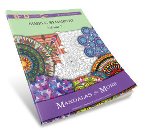 Yet Another Mom Coloring Book: Simple Symmetry, Volume 1: Mandalas and More
