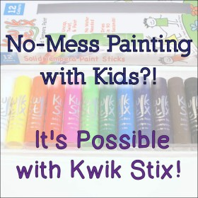No-Mess Painting with Kids?! It's Possible with Kwik Stix - Review