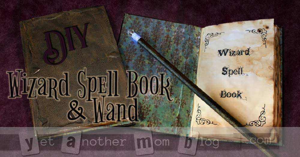 wizard wand  u0026 spell book diy halloween costume accessories