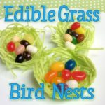 Use edible grass to make these cute edible bird nests, perfect for jelly beans!