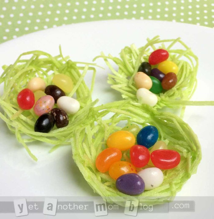 Edible Birds Nests made with edible grass - great for Easter!