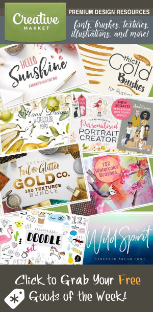 Creative Market ~ Get Your Free Goods of the Week